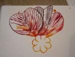 Die goldgelbe, Krapprote und Bordeaux farbenden Tuschen leuchten feurig - Susanne Haun