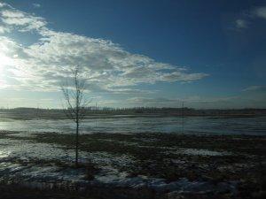 Der Schnee taut und hinterläßt eindrucksvolle Landschaften - Foto von Susanne Haun