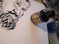 Wie sieht ein Schmied aus? - Entstehung Zeichnung Susanne Haun