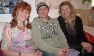 Susanne Haun, Andreas Mattern und Petra A. Bauer - Foto Selbstauslöser :-)