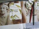 Die Postkarten von Hahnemühle sind klein und so erlauben sie interessante Ausschnitte - Zeichnung von Susanne Haun