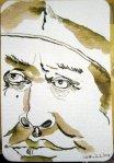 Luther - Zeichnung von Susanne Haun - 15 x 10 cm - Tusche auf Hahnemühle Postkarte