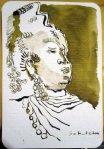 Borneo - Zeichnung von Susanne Haun - 15 x 10 cm - Tusche auf Hahnemühle Postkarte