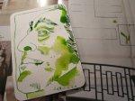 Im Merian ist auch eine Skulptur Friedrich August II - Foto und Zeichnung von Susanne Haun