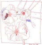 Wildrosen - Zeichnung von Susanne Haun - 20 x 20 cm - Tusche auf Bütten