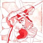 Tulpe - Zeichnung von Susanne Haun - 20 x 20 cm - Tusche auf Bütten