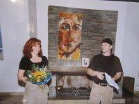 2003: Ein Jugendfoto von Andreas und mir bei meiner Ausstellung vom Kunstamt Mitte von Berlin