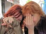 2011 Coco und ich im Tegeler Eisladen - Heute zeigen wir kein Gesicht mehr - Foto von Susanne Haun