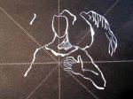 Die weiße Tusche zeichnet sich nicht einfach - Susanne Haun