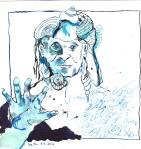 Wassermann Version 1 - Zeichnung von Susanne Haun - 20 x 20 cm - Tusche auf Bütten