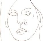 Lilly Rush 1 aus Cold Case - Skizze von Susanne Haun - 15 x 15 cm - Füller