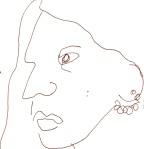 Lilly Rush 2 aus Cold Case - Skizze von Susanne Haun - 15 x 15 cm - Füller