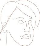 Lilly Rush 3 aus Cold Case - Skizze von Susanne Haun - 15 x 15 cm - Füller
