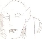 Skizze 1 - Max Schreck als Nosferatu - von Susanne Haun