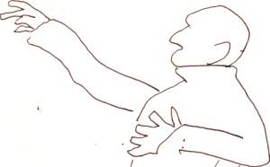 Skizze 2 - Max Schreck als Nosferatu - von Susanne Haun