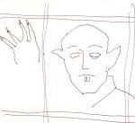 Skizze 3 - Max Schreck als Nosferatu - von Susanne Haun