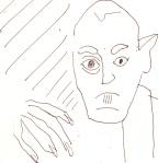 Skizze 4 - Max Schreck als Nosferatu - von Susanne Haun