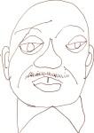 Det. Will Jeffries aus Cold Case - Skizze von Susanne Haun - 15 x 15 cm - Füller