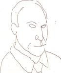 Lt. John Stillman aus Cold Case - Skizze von Susanne Haun - 15 x 15 cm - Füller