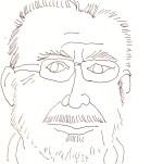 Herr Richter aus dem Laptop Nr. 1 - Skizze von Susanne Haun