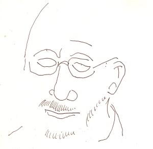 Herr Richter aus dem Laptop Nr. 2 - Skizze von Susanne Haun