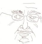 Herr Richter aus dem Laptop Nr. 3 - Skizze von Susanne Haun