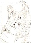Buch Hennoch: Nachdem die Menschenkinder sich gemehrt hatten - Zeichnung von Susanne Haun - 20 x 15 cm - Tusche auf Bütten