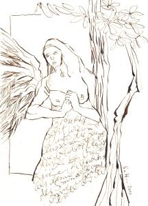 Buch Hennoch: Beobachtet und seht - Zeichnung von Susanne Haun - 20 x 15 cm - Tusche auf Bütten