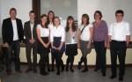 Die beiden Siegerteams mit ihren Lehrern - Foto von Susanne Haun