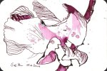 Löwenmäulchen - Zeichnung von Susanne Haun - 15 x 10 cm - Tusche auf Bütten