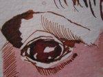 In den Augen ist ebenfalls der Eingang zur Hölle - Zeichnung von Susanne Haun
