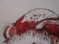 In der Kopfform ist ebenfalls der Eingang zur Hölle - Zeichnung von Susanne Haun