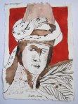 Asasel war es der Adam und Eva verführte Vers. 2 - Zeichnung von Susanne Haun - 15 x 20 cm - Tusche auf Bütten