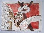 Asasel war es der Adam und Eva verführte Vers. 1 - Zeichnung von Susanne Haun - 15 x 20 cm - Tusche auf Bütten
