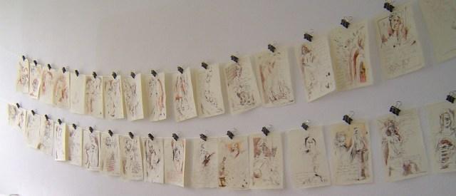 Ich habe gerne einen Überblick über meine Arbeiten - Foto von Susanne Haun