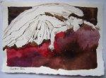 Feßle Asasel - Version 1 - Zeichnung von Susanne Haun - 15 x 20 cm - Tusche auf Bütten