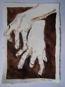 Feßle Asasel - Version 4 - Zeichnung von Susanne Haun - 15 x 20 cm - Tusche auf Bütten