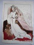 Erzengel Gabriel - Version 1 - Zeichnung von Susanne Haun - 20 x 15 cm - Tusche auf Bütten