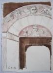Pforte des Himmels - Ver. 2 - Zeichnung von Susanne Haun - 20 x 15 cm - Tusche auf Bütten