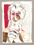 Und ein Gericht wird über alle stattfinden - Zeichnung von Susanne Haun - 20 x 15 cm - Tusche auf Bütten