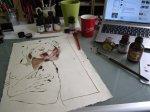 Entstehung Zeichnung Akt von Susanne Haun