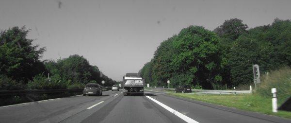 Autobahn: grün - Foto von Susanne Haun