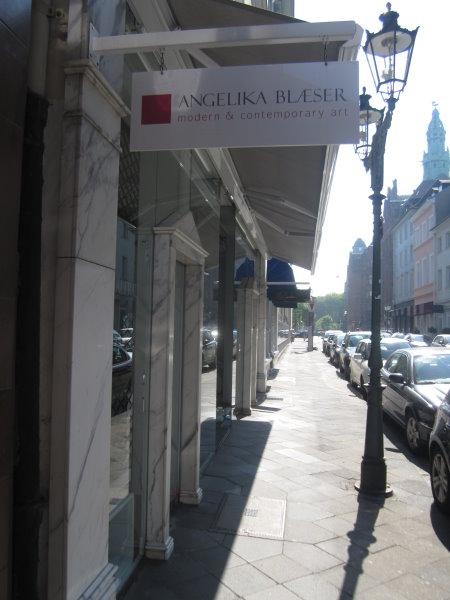 Bastionstraße 10 vor Angelika Blaesers Galerie - Foto von Susanne Haun