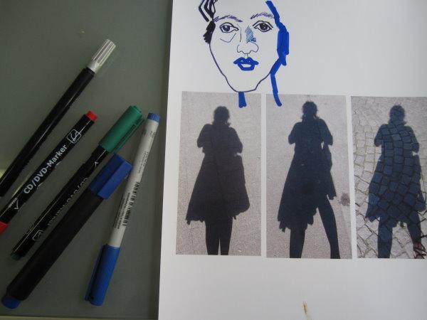 Mir gefallen die Schatten schon so sehr gut, aber ich kann die Finger nicht von den CD-Markern lassen - Foto von Susanne Haun