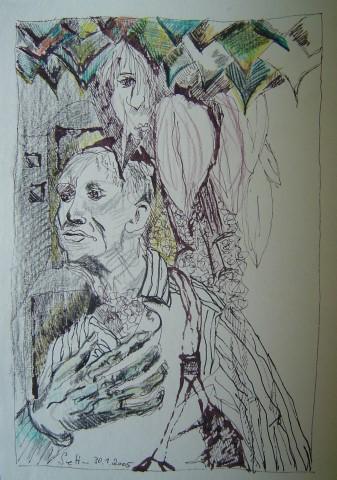2005 - Das Herz - Zeichnung von Susanne Haun mit Rotring Radiograph und Buntstift