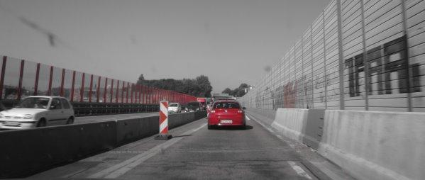 Autobahn: rot - Foto von Susanne Haun