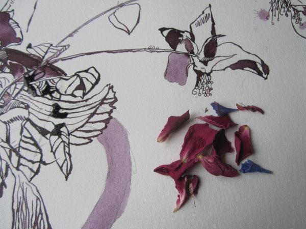 Detail meiner Arbeit heute - Foto von Susanne Haun