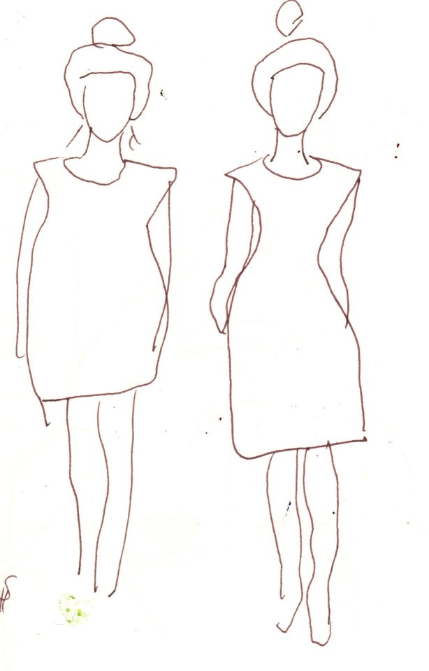 Die Kunst Des Fashions Ist Skulptural Zeichnung Von Susanne Haun
