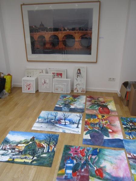 Andreas Arbeiten werden von Angelika ausgesucht - Foto von Susanne Haun