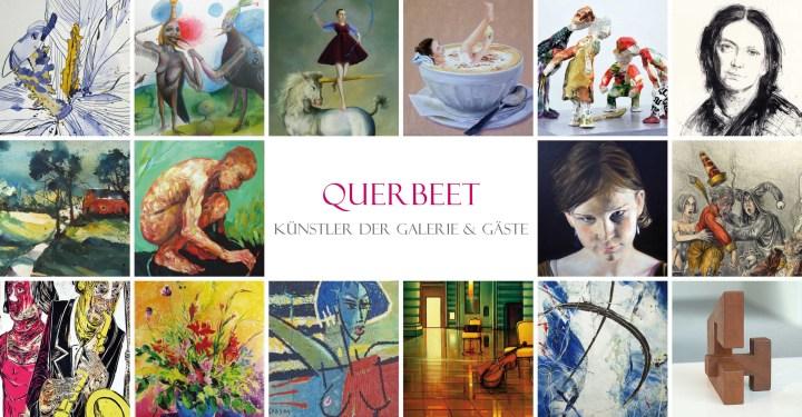 Einladung zur Ausstellung Querbeet in die Galerie Angelika Blaeser